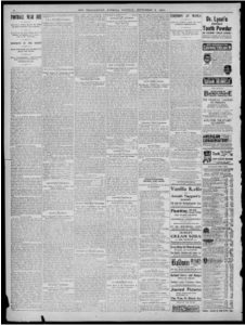 The Indianapolis Journal, September 3, 1901. Courtesy of Hoosier State Chronicles.