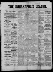 117 issues of the Indianapolis Leader (1879-1882) are available here.