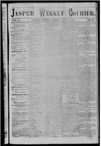 The Jasper Weekly Courier, click to access 3,611 issues between 1858-1922 at Hoosier State Chronicles.