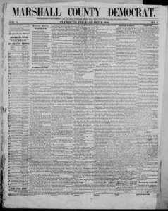 Issued as the Marshall County Democrat from 1855-1859, digitized issues are available through Chronicling America.