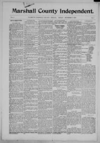 185 issues of the Marshall County Independent from 1897-1901 are available here.