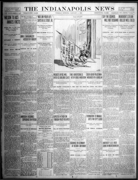 indianapolis newspapers state digital january digitized 1916 indiana newspaper chronicles hoosier