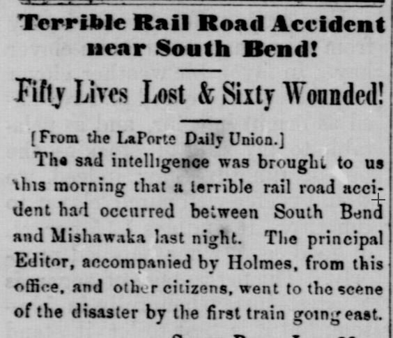 Today in Indiana History: Terrible Railroad Accident near