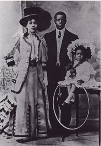 Marshall Taylor and his wife, Daisy, and daughter, Sydney, ca. 1906 or 1907