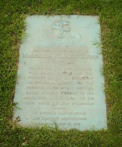 Marker for Marshall Taylor's grave at Mount Glenwood Memory Gardens, Illinois