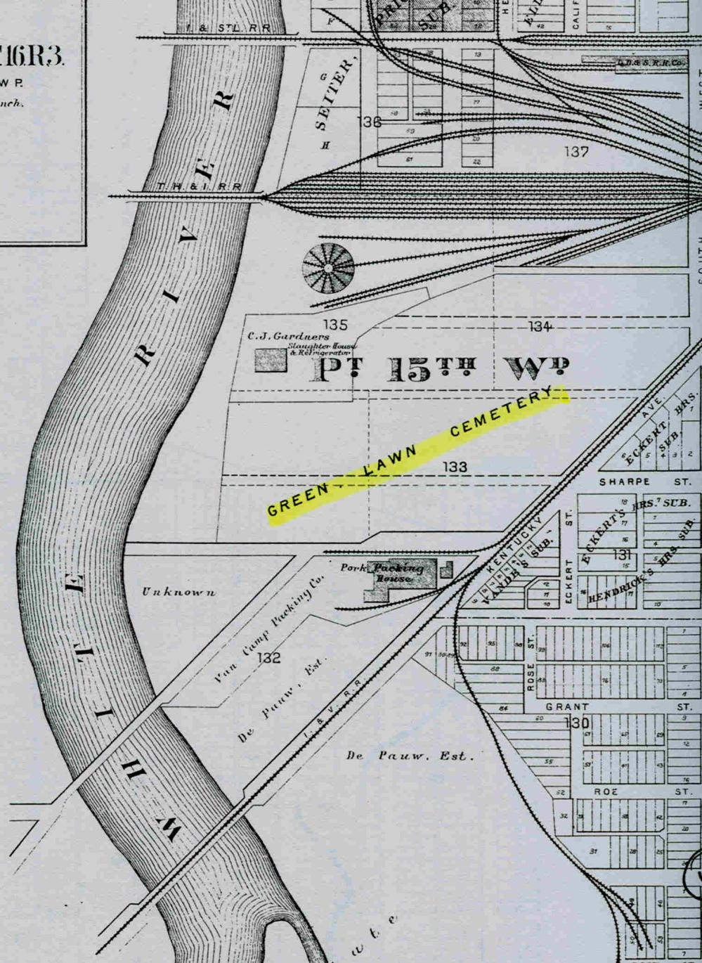Greenlawn Cemetery map