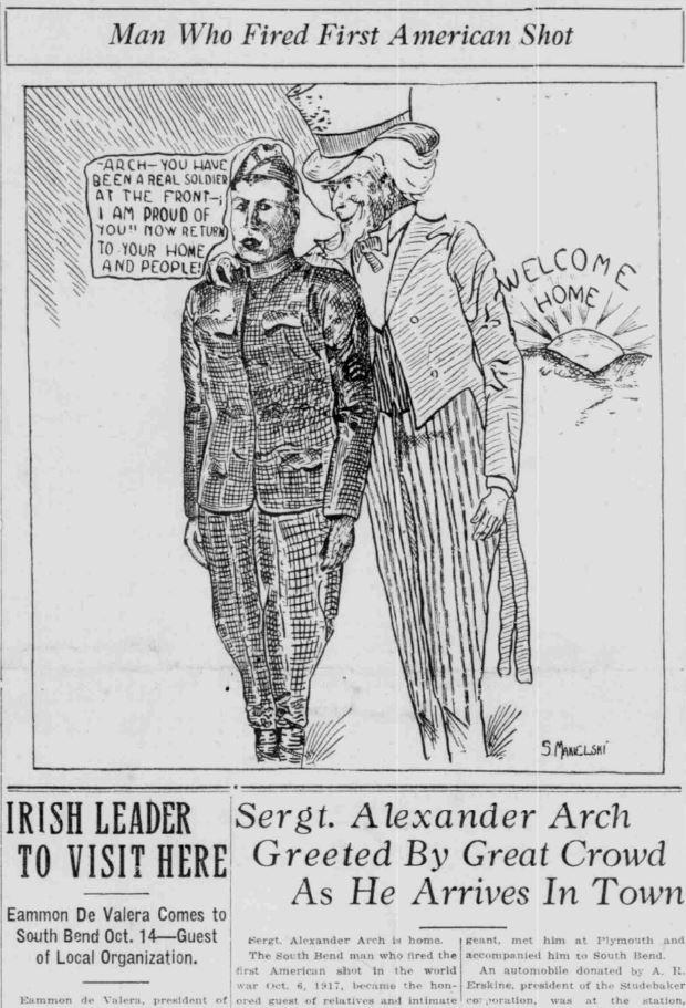 Alexander Arch SB News Times September 28 1919
