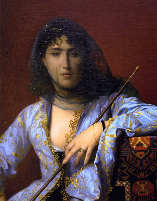 Circassian Girl painting
