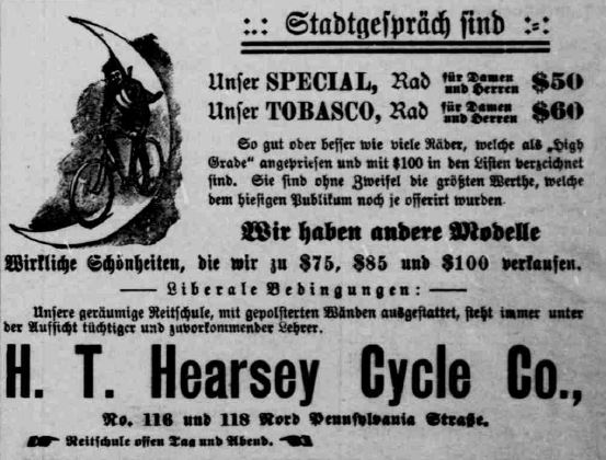 hearsey ad -- Indiana Tribune July 27 1896