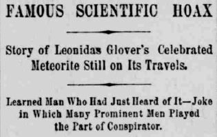 meteorite indianapolis journal nov 30 1891