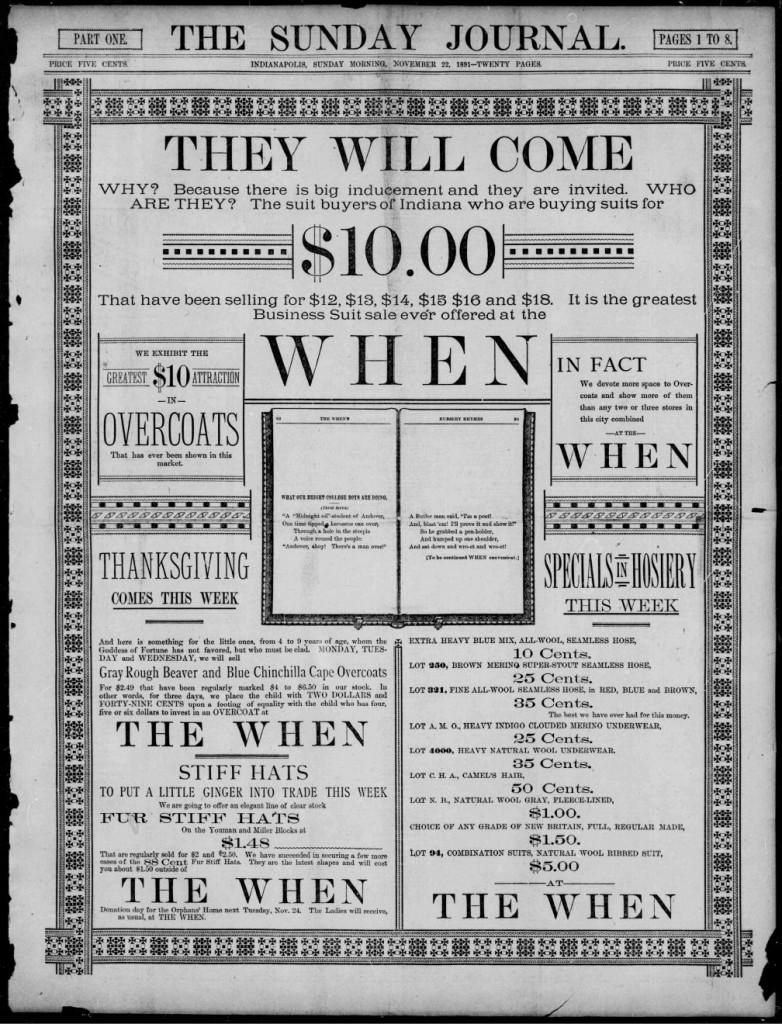 the When November 22 1891