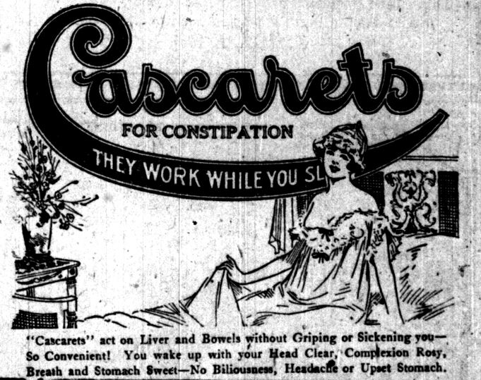 Cascarets -- Lake County Times, April 5, 1920