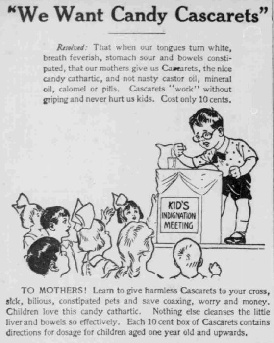 Cascarets - South Bend News Times November 20 1918
