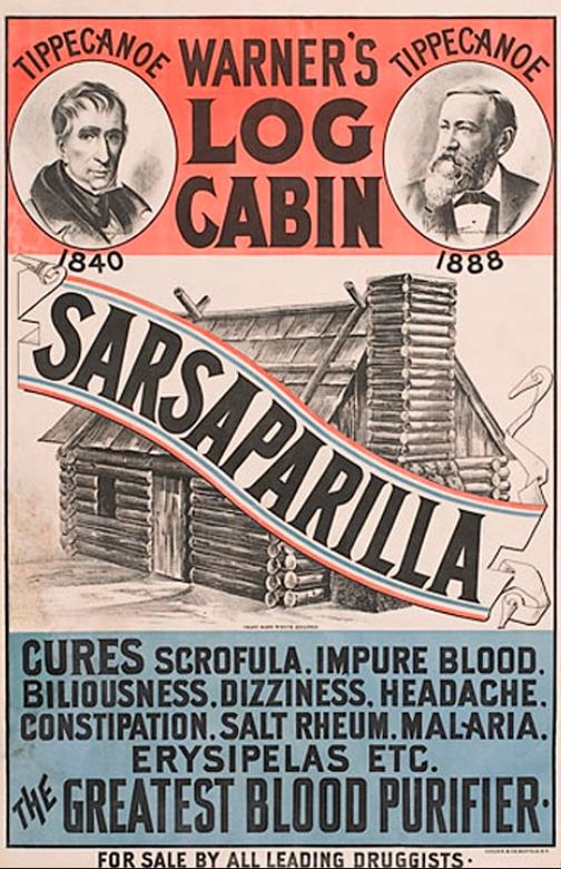 warner's log cabin sarsaparilla