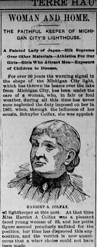 Harriet A Colfax - Terre Haute Saturday Evening Mail January 19 1895