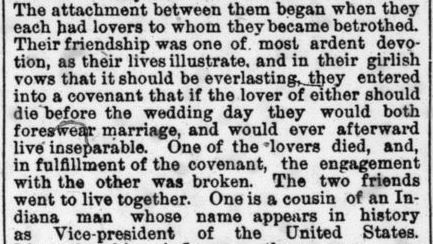 Harriet Colfax - Indianapolis Journal December 21 1884 (2)