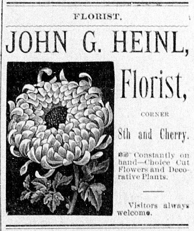 Heinl Florist - Terre Haute Daily News November 30 1889
