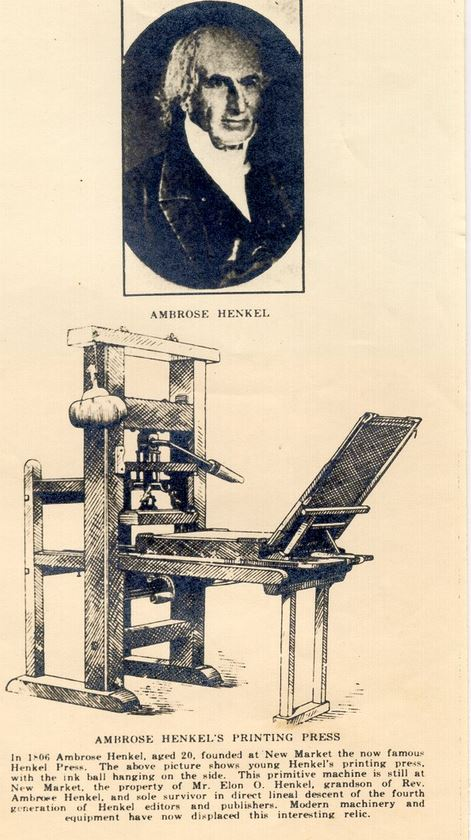 Ambrose Henkel Printing Press