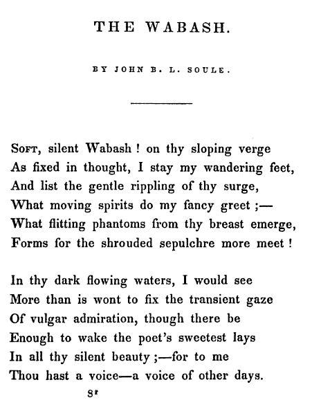 The Wabash 1840 -- soule