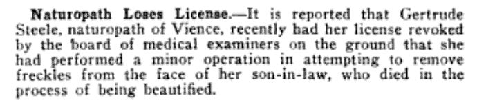 Journal of the American Medical Association, April 16, 1921