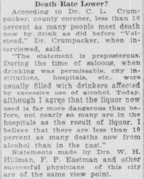 Wood Alcohol -- South Bend News-Times, July 2, 1922 (2)
