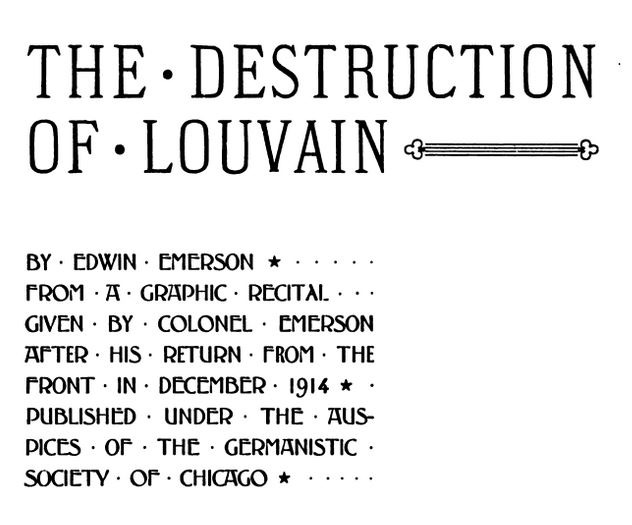 Destruction of Louvain