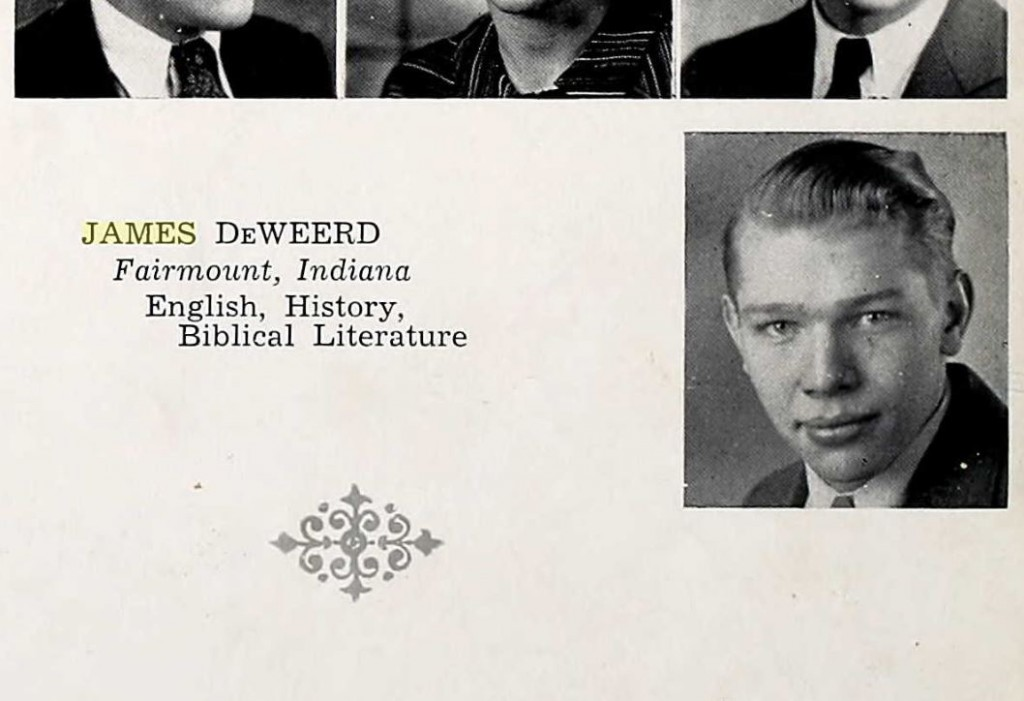 James DeWeerd yearbook pic