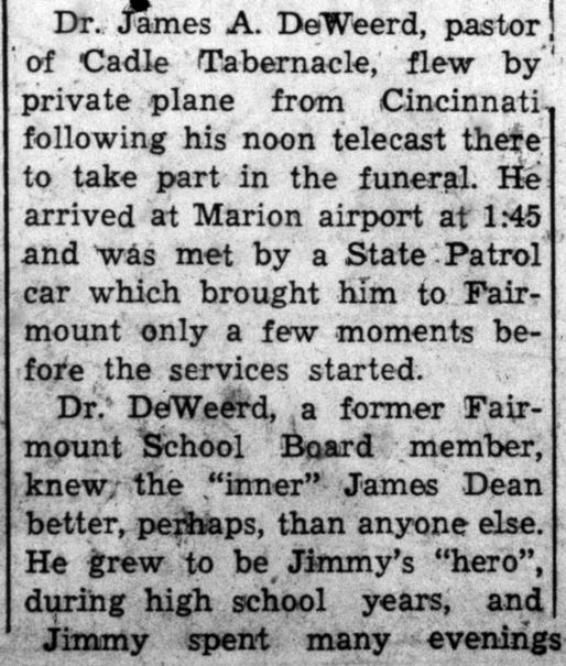 James Dean Death -- Fairmount News, October 13, 1955 (2)