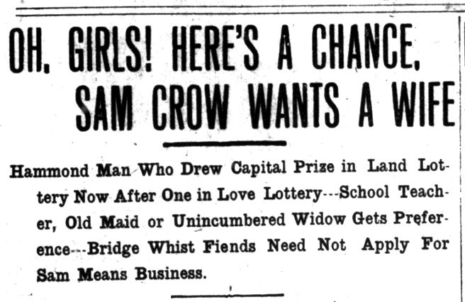 Lake County Times, March 6, 1914