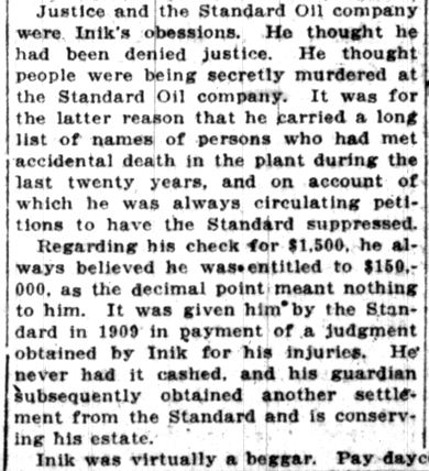Mike Inik -- Lake County Times, December 5, 1916 (12)