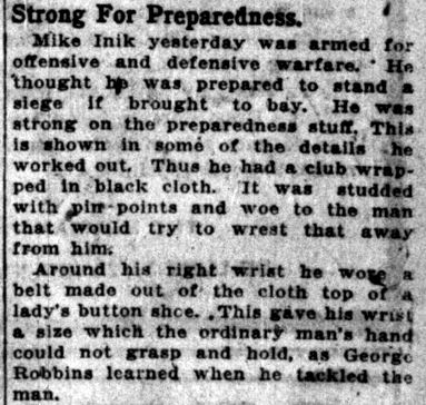 Mike Inik -- Lake County Times, December 5, 1916 (5)