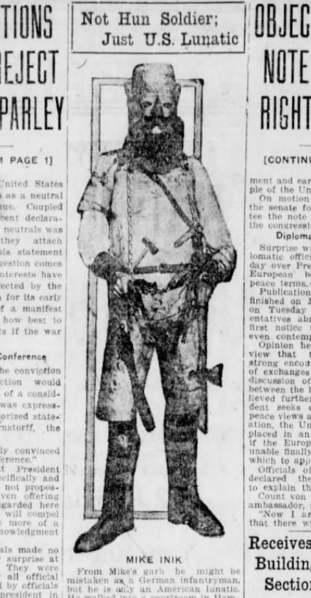 Mike Inik -- Winnipeg Tribune, December 21, 1916