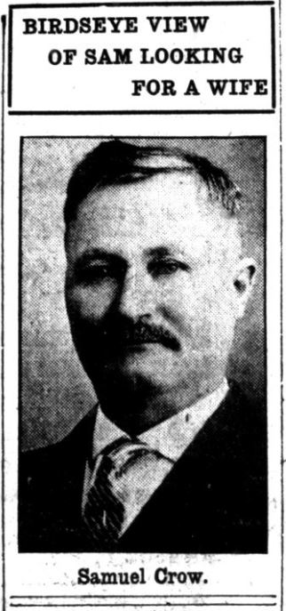 Sam Crow, March 6, 1914