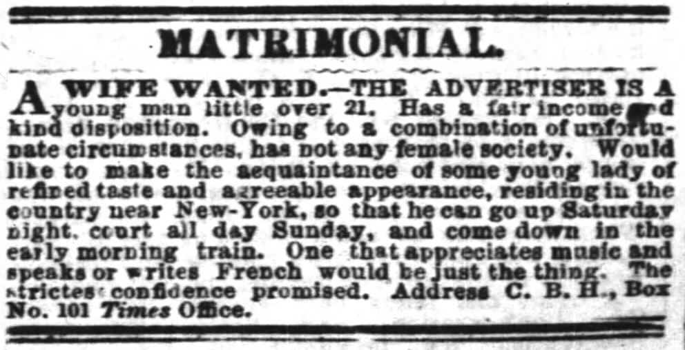 The New York Times, May 28, 1860