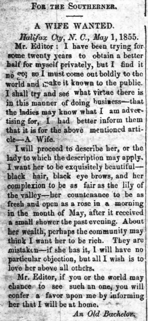 The Tarborough Southerner (Tarboro, NC), May 5, 1855