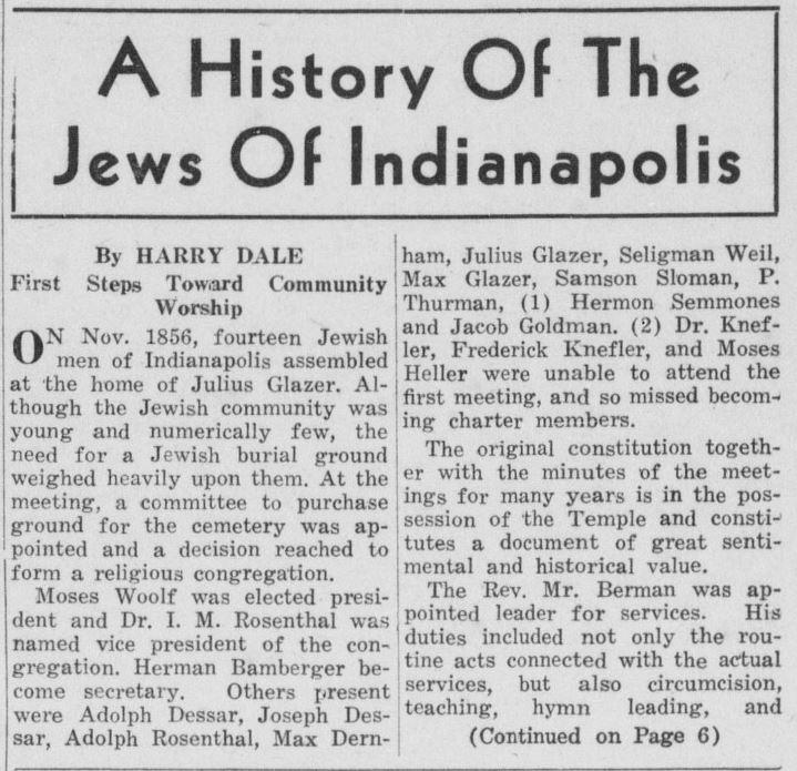 Jewish Post, August 13, 1937