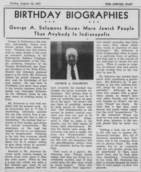 Jewish Post, August 20, 1937