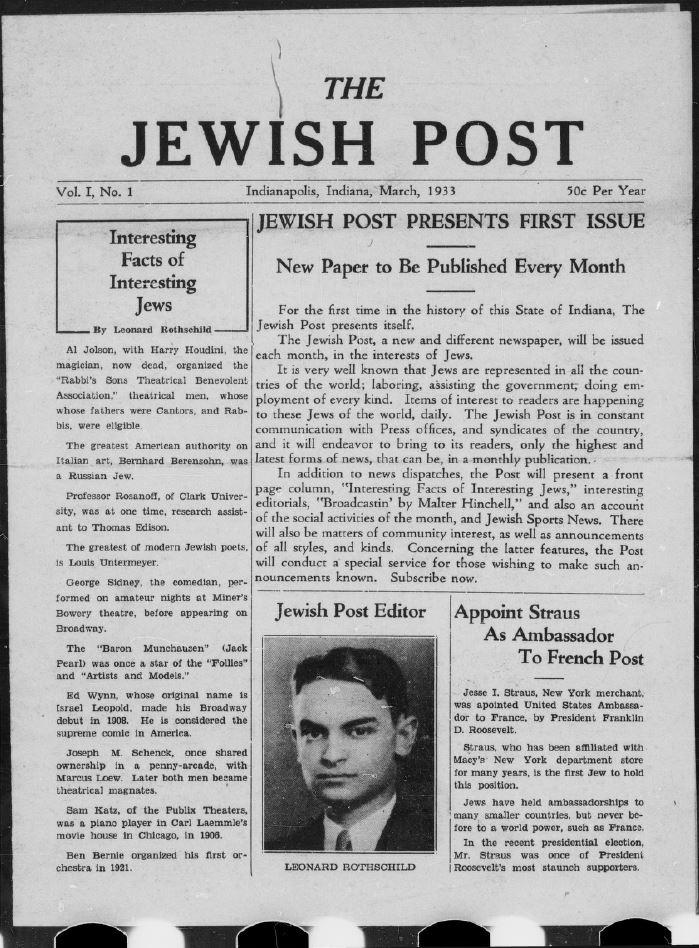 Jewish Post, March 1933
