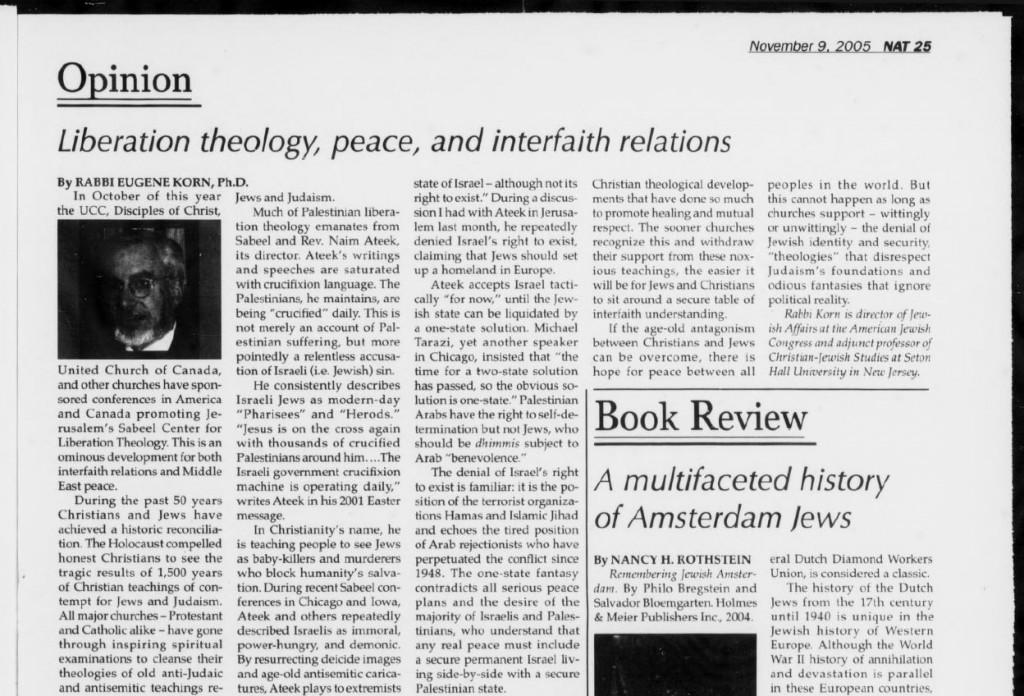 Jewish Post, November 9, 2005 (3)