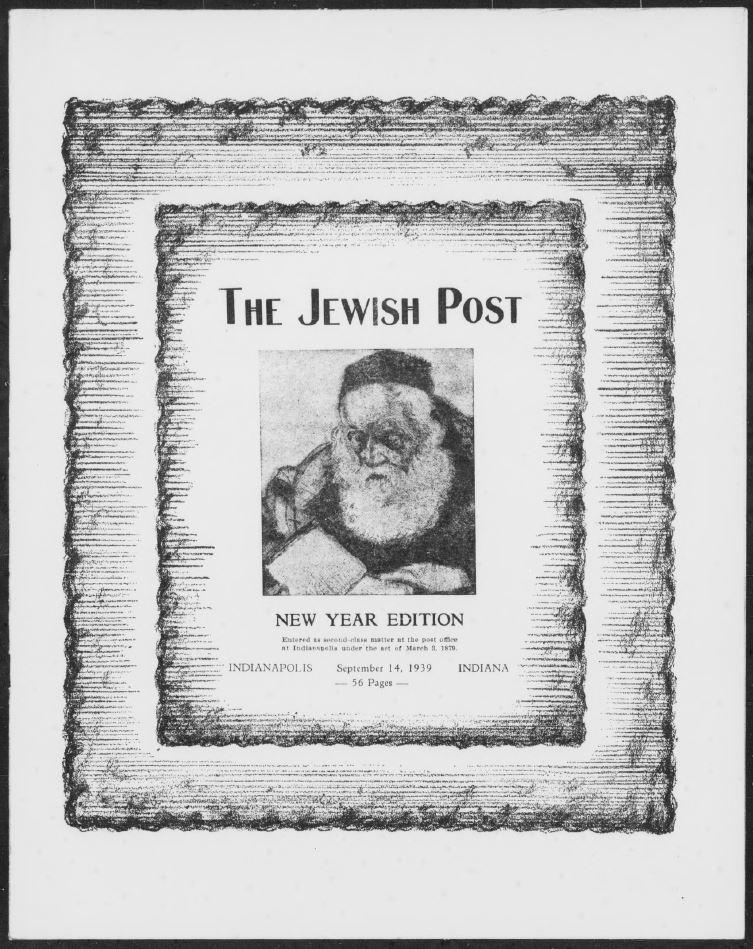 Jewish Post, September 14, 1939