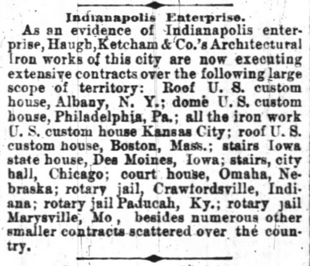 Haugh -- Indianapolis News April 6 1882