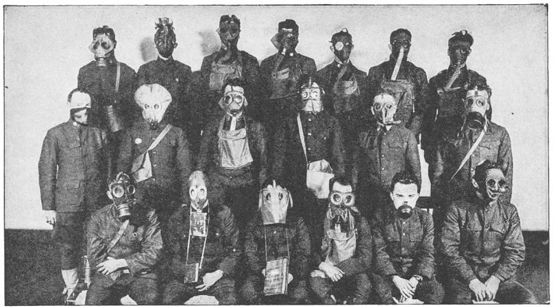 Variety of gas masks