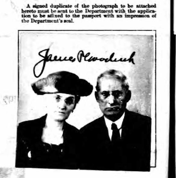 James and Cora Goodrich 1921