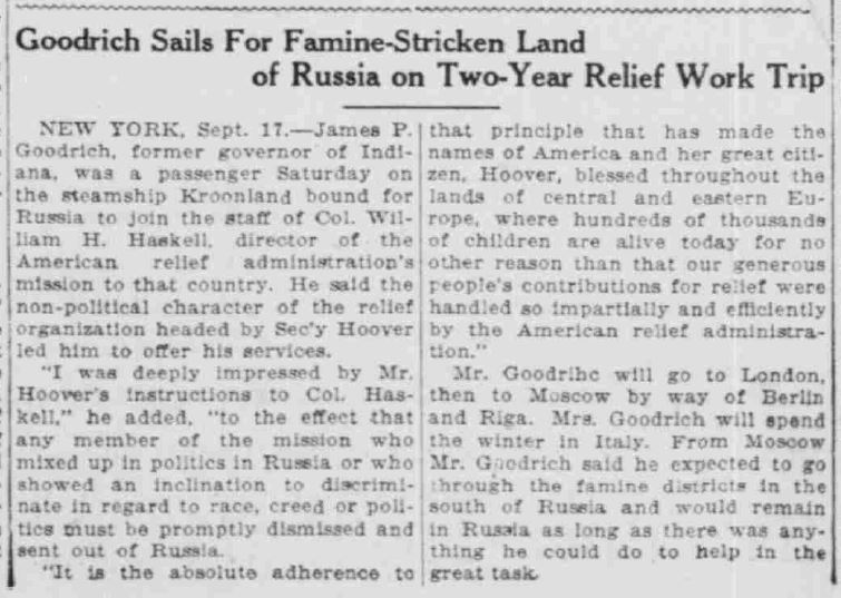 South Bend News-Times, September 18, 1921