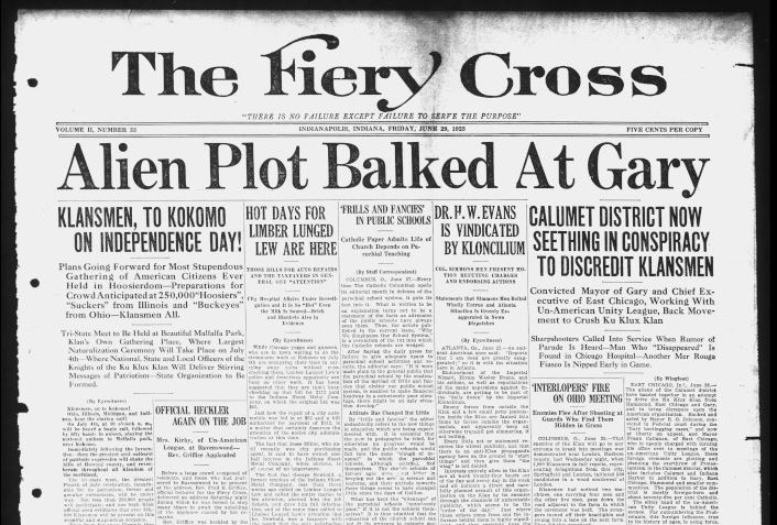 The Fiery Cross, June 29, 1923