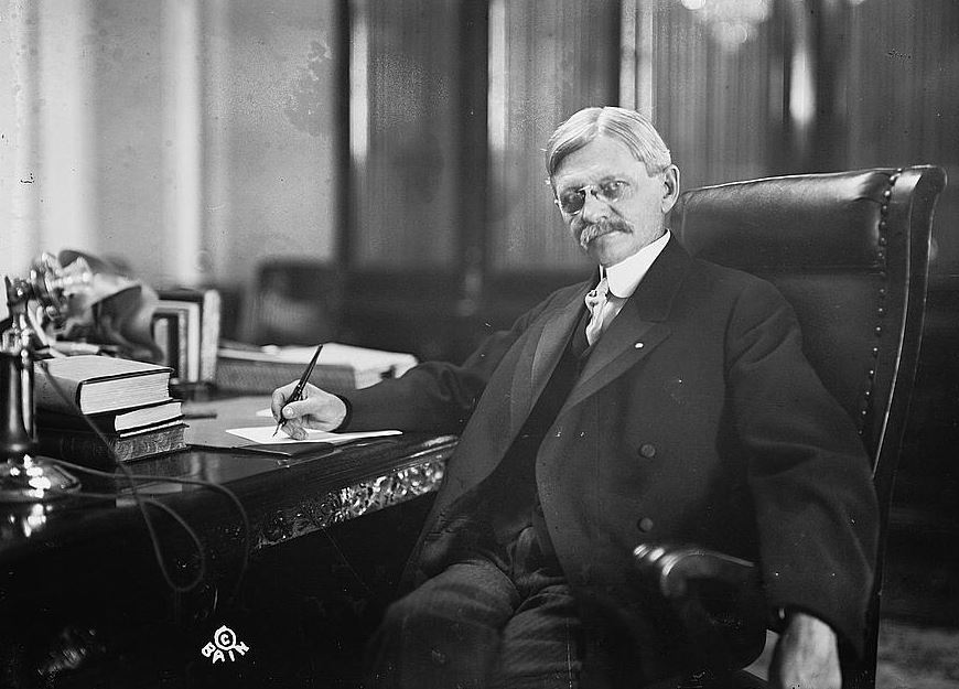 Marshall in his Senate office