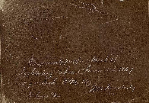 Lightning daguerreotype, 1847