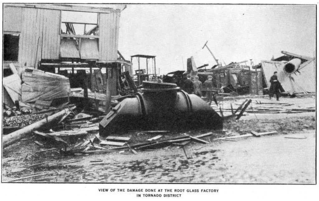 Root Glass Factory damage, 1913