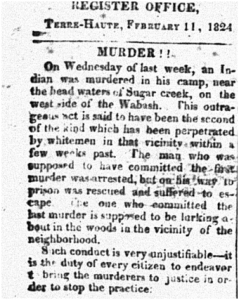 Western Register and Terre Haute Advertiser, February 11, 1824, page 2