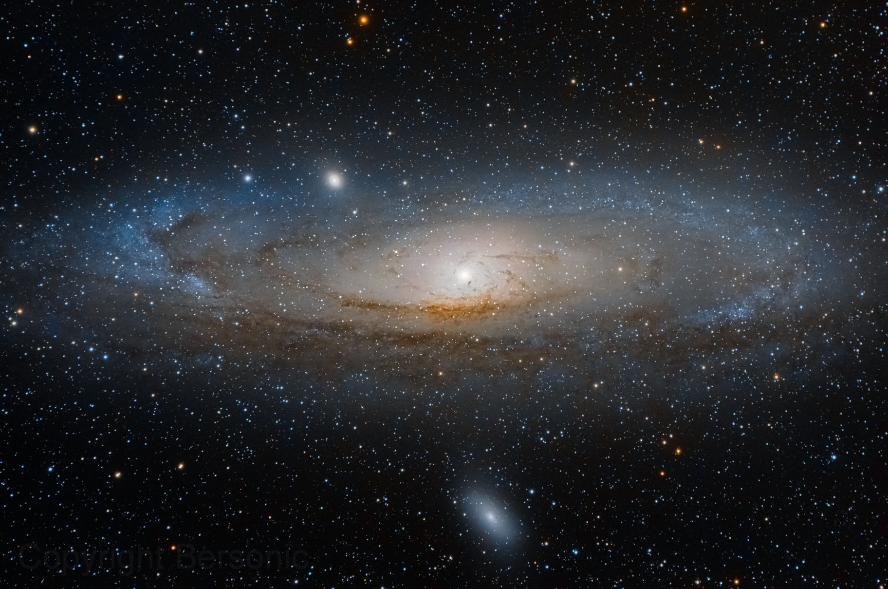The Andromeda Galaxy. Courtesy of NASA.